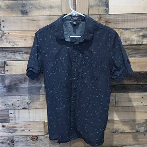 Black & Teal Volcom Button-Up